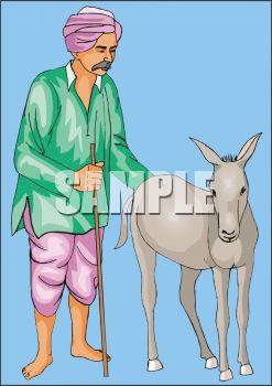 Arab Man with a Donkey.