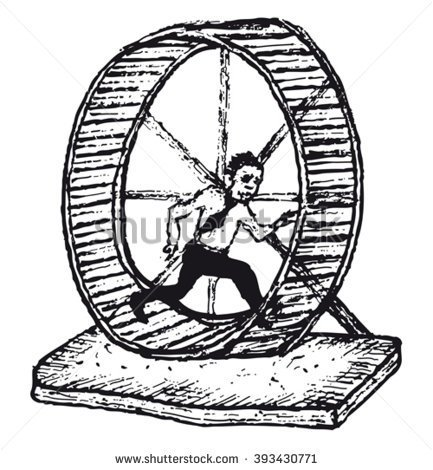 A Bunch Of People On Hamster Wheel Clipart.