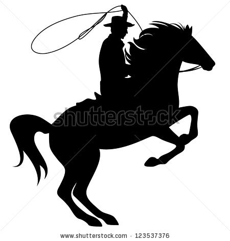 Cowboy Horse Stock Images, Royalty.