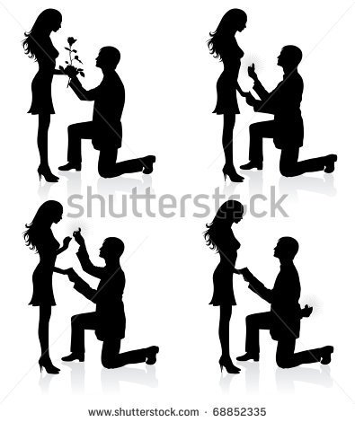 A Person Kneeling Silhouette Clipart On Both Knees.