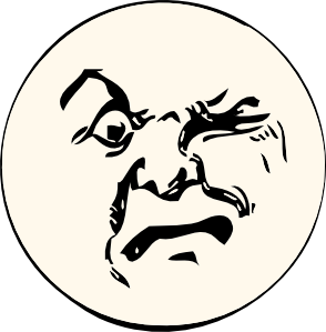 Angry Moon Clip Art.