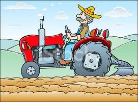 Man on Tractor stock vectors.