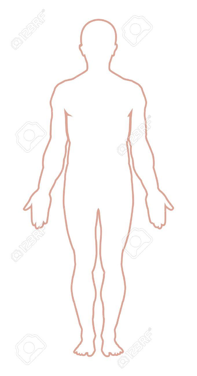Man Body Outline Clipart 1 0.