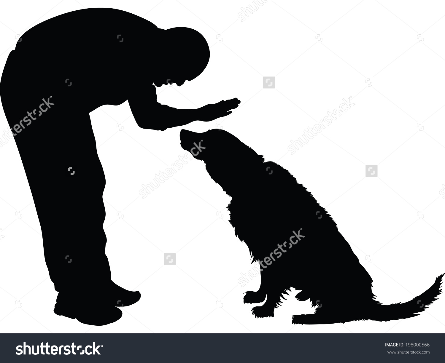 Showing post & media for Cartoon man petting dog.