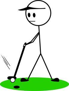 stick golfer clipart.