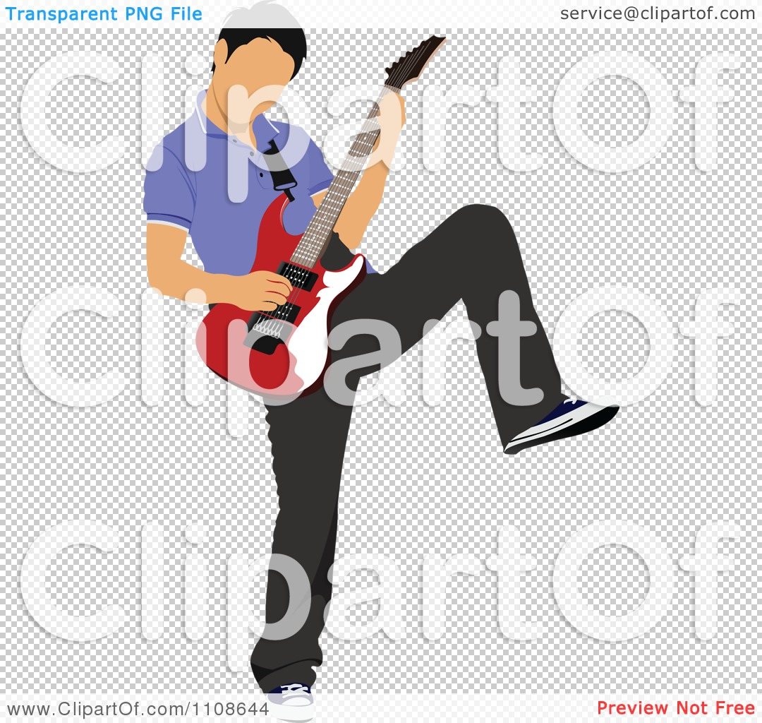 Clipart Rock Musician Man Playing An Electric Guitar 3.