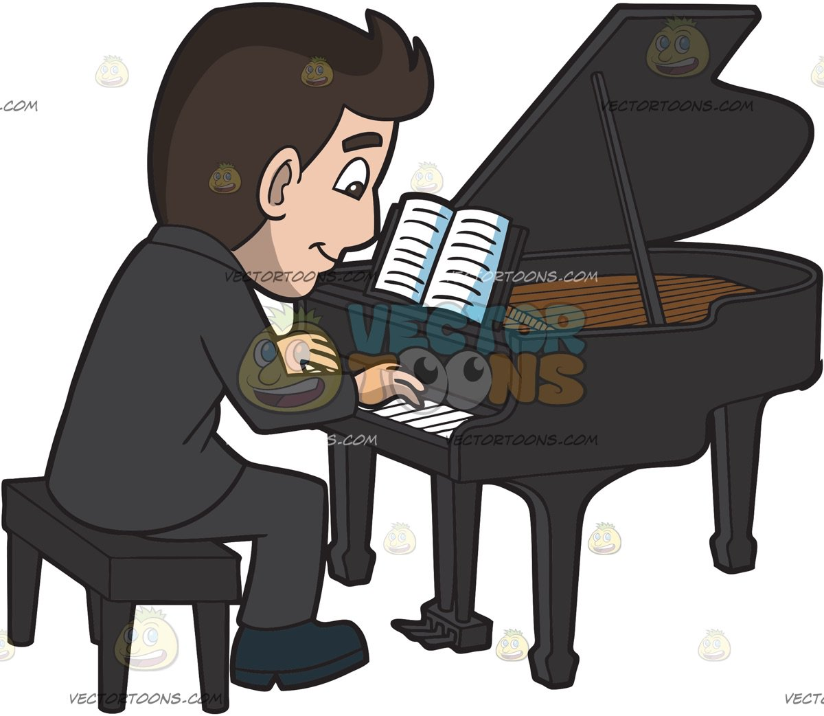 Man playing piano clipart 3 » Clipart Station.