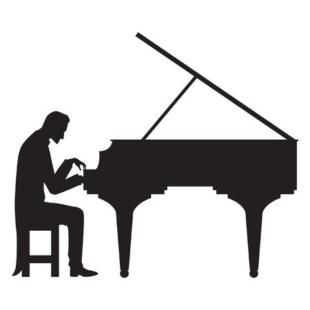 462 Man Playing Piano Stock Vector Illustration And Royalty.
