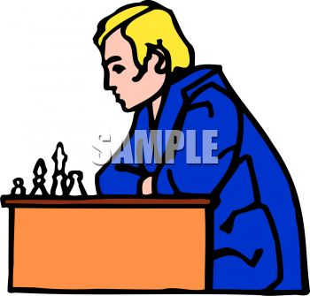 Man playing chess.