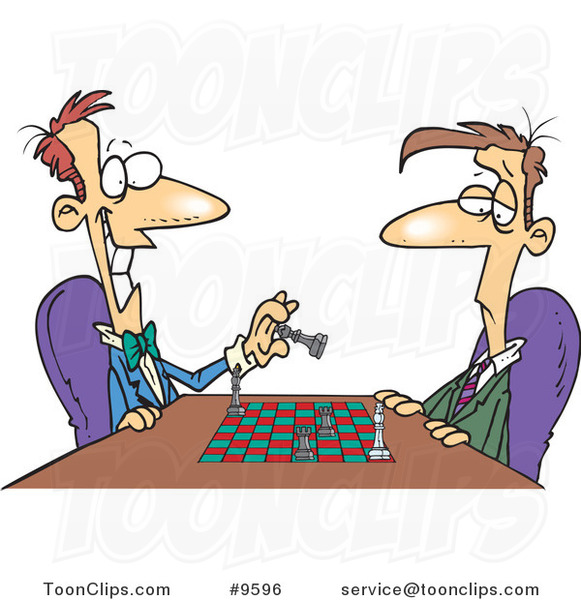 Showing post & media for Cartoon playing chess.