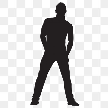 Man Silhouette PNG Images.