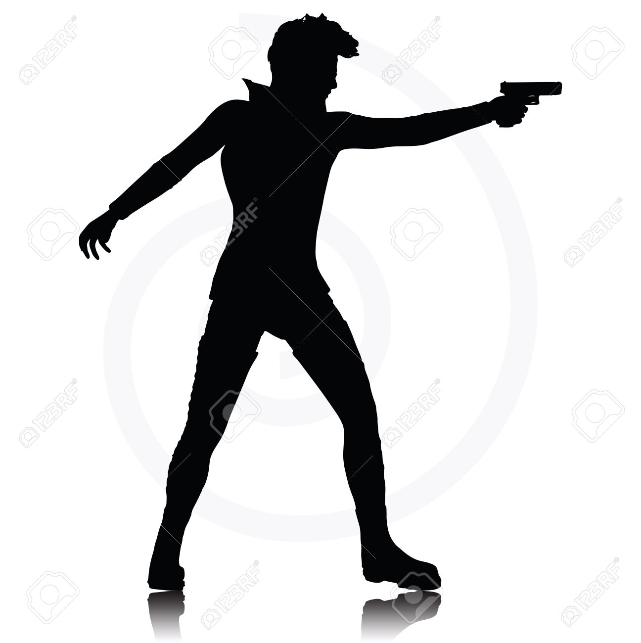 Black And White Photos Of A Gun Pointing Pictures to Pin ...