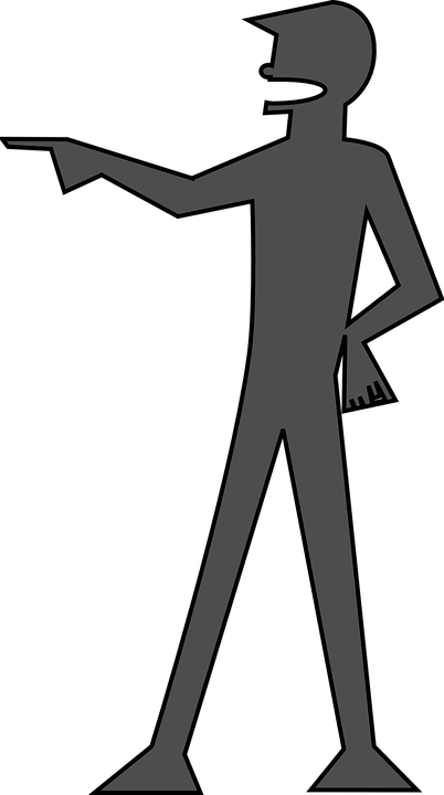 Free vector graphic: Man, You, Silhouette, Pointing.