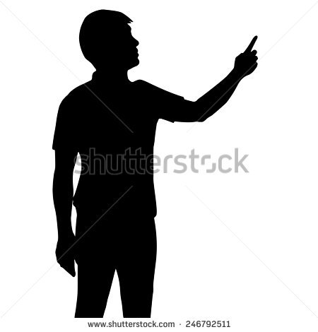Man Pointing Silhouette Clipart Png Clipground