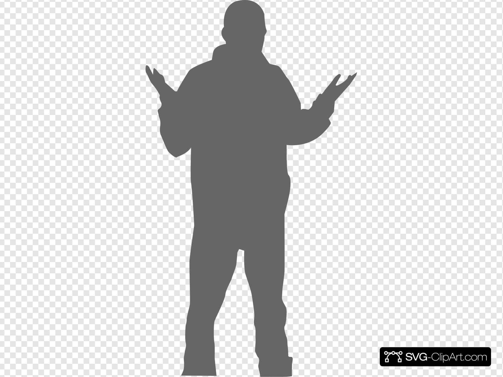Man Presenting Clip art, Icon and SVG.