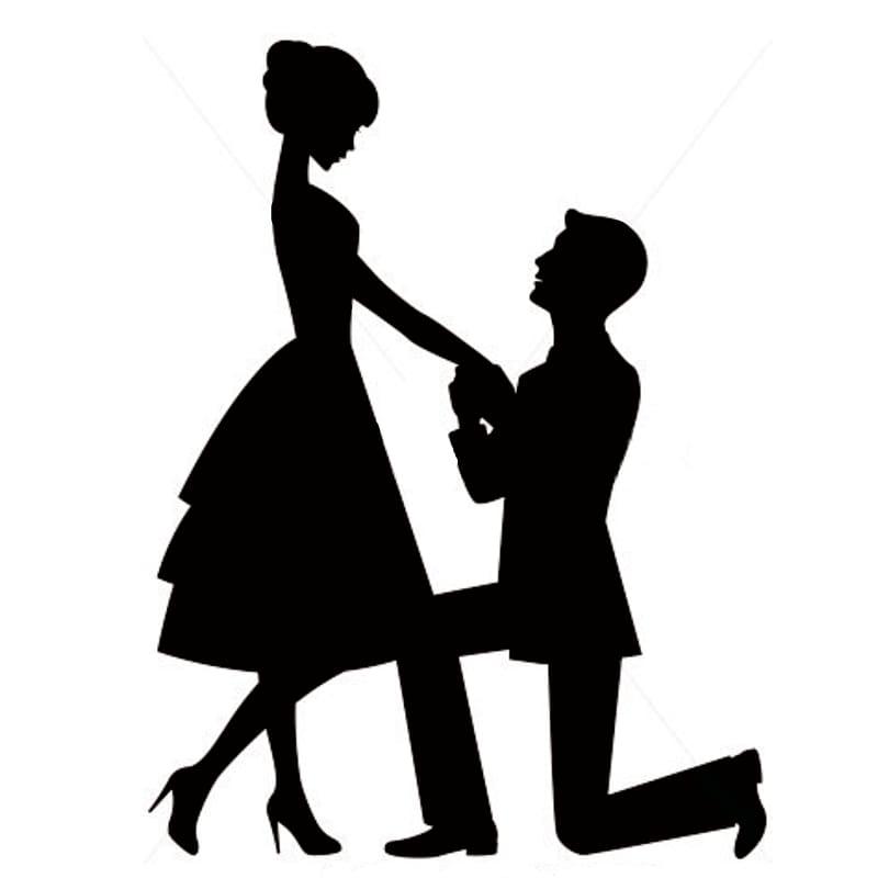 Man proposing illustration, Marriage proposal Engagement.