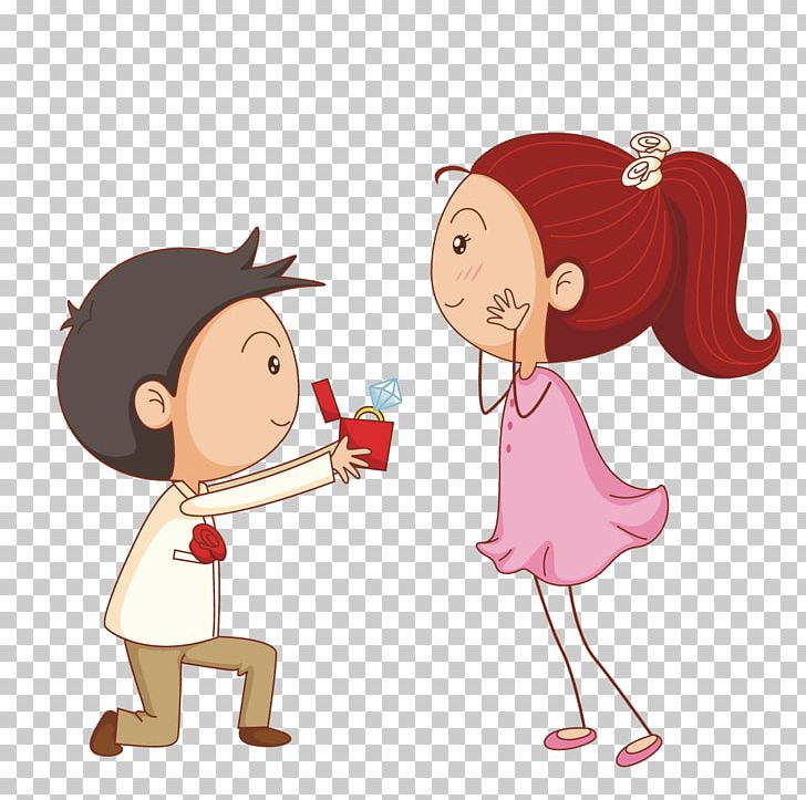 Marriage Proposal Cartoon Illustration PNG, Clipart, Boy.