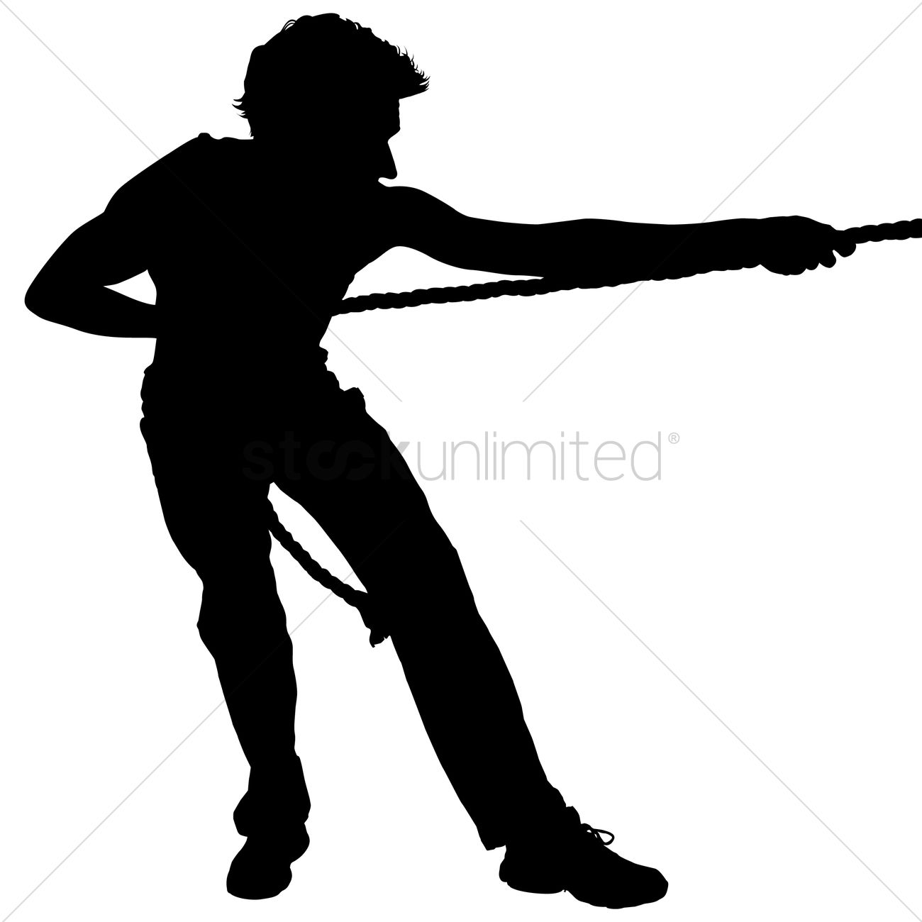 Man Pulling Rope Clipart.