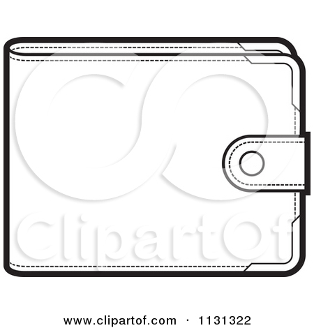 Mens wallet clipart black and white.