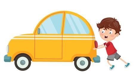 330 Pushing Car Stock Vector Illustration And Royalty Free.