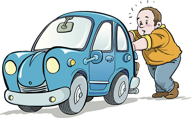 Best Pushing Car Illustrations, Royalty.