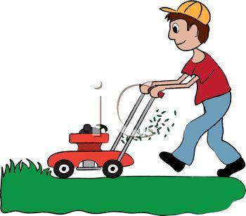 Man pushing lawn mower clipart 2 » Clipart Portal.
