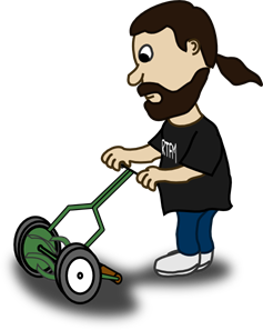 Pushing Lawn Mower PNG, SVG Clip art for Web.