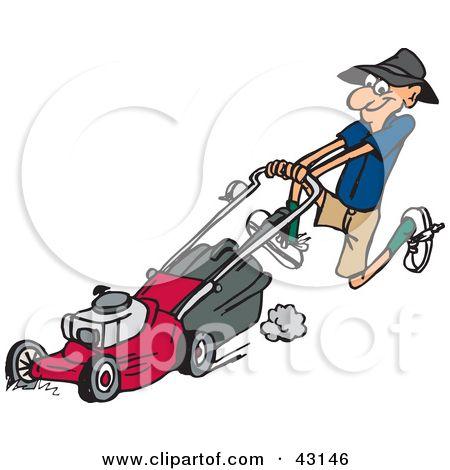 free clip art downloads lawn man.
