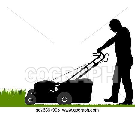 Man pushing lawn mower clipart 6 » Clipart Portal.
