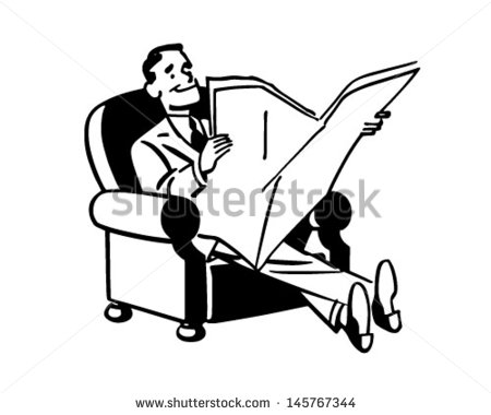 Retro Clipart Man Stock Images, Royalty.
