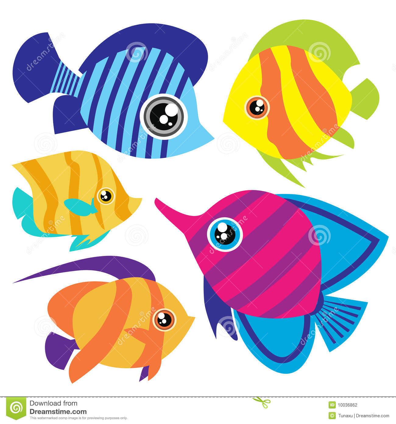 cartoon fish.