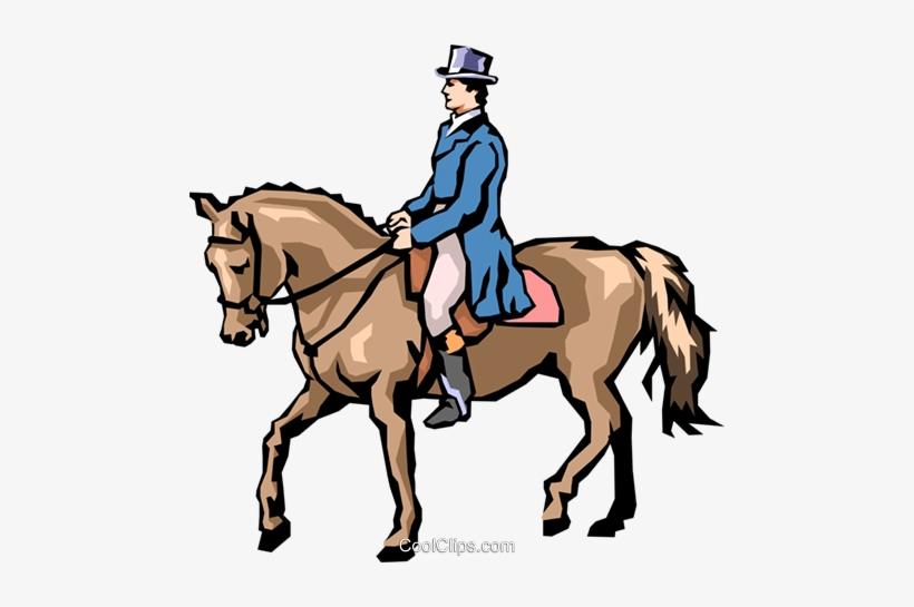 Man On Horseback Royalty Free Vector Clip Art Illustration.
