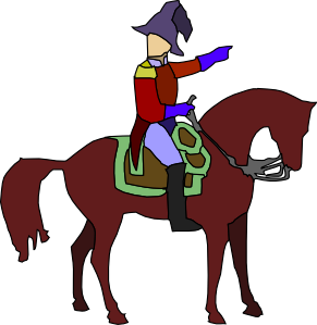 Man On Horse Clipart.