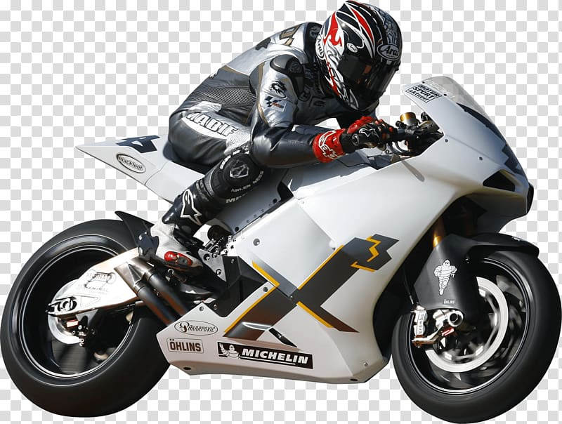 Man riding silver sports motorcycle, Race Motorcycle.