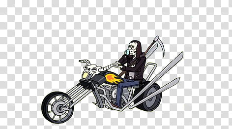 Man riding motorcycle illustration transparent background.
