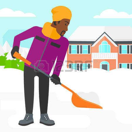 183 Shoveling Snow Stock Vector Illustration And Royalty Free.