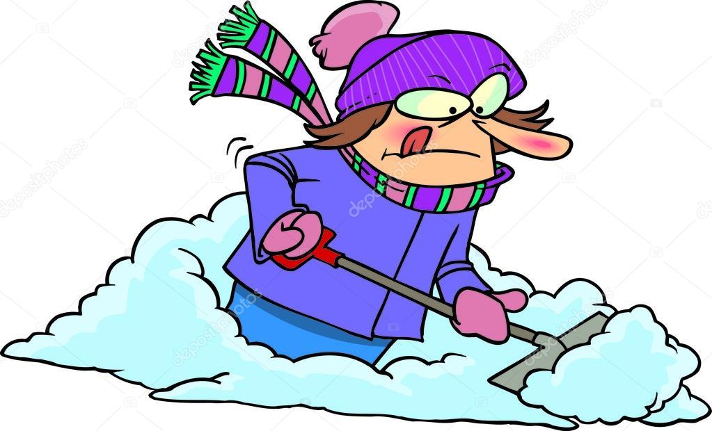 shoveling snow clipart free - photo #15