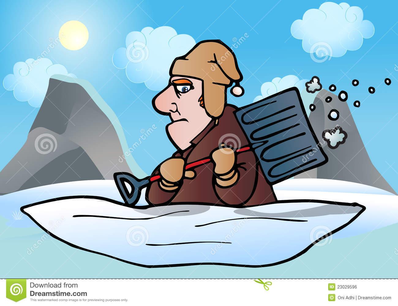 Shoveling Snow Stock Illustrations.