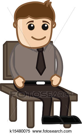 Man Sitting on a Chair.