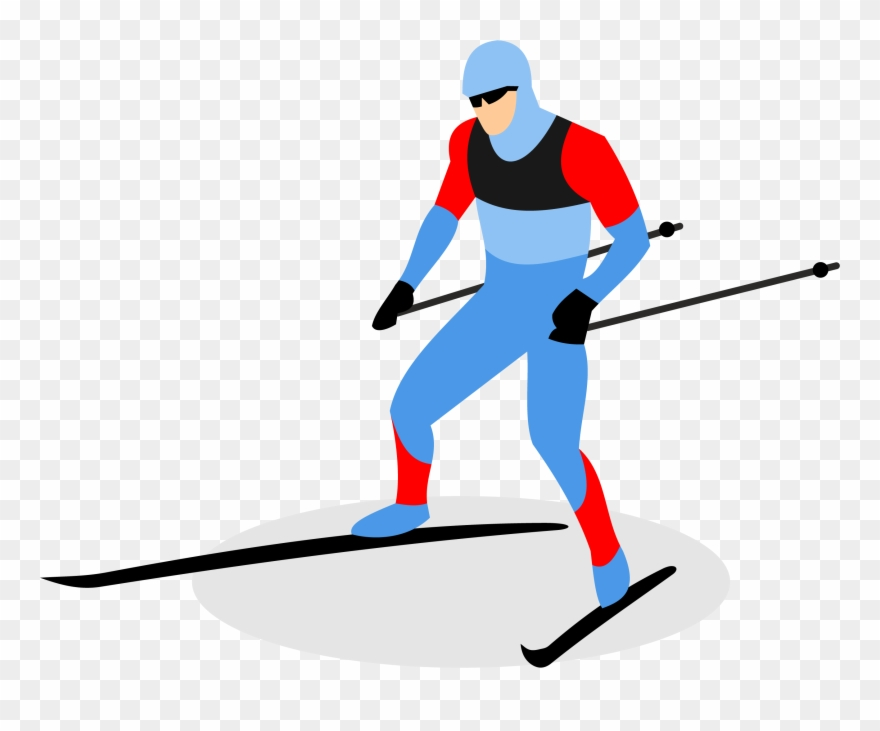 Biathlon Skiing Ski Pole Man Transprent.