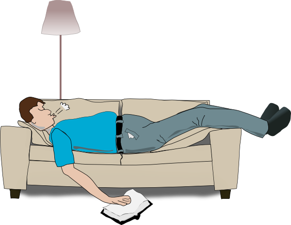 Man sleeping on couch clipart 2 » Clipart Station.