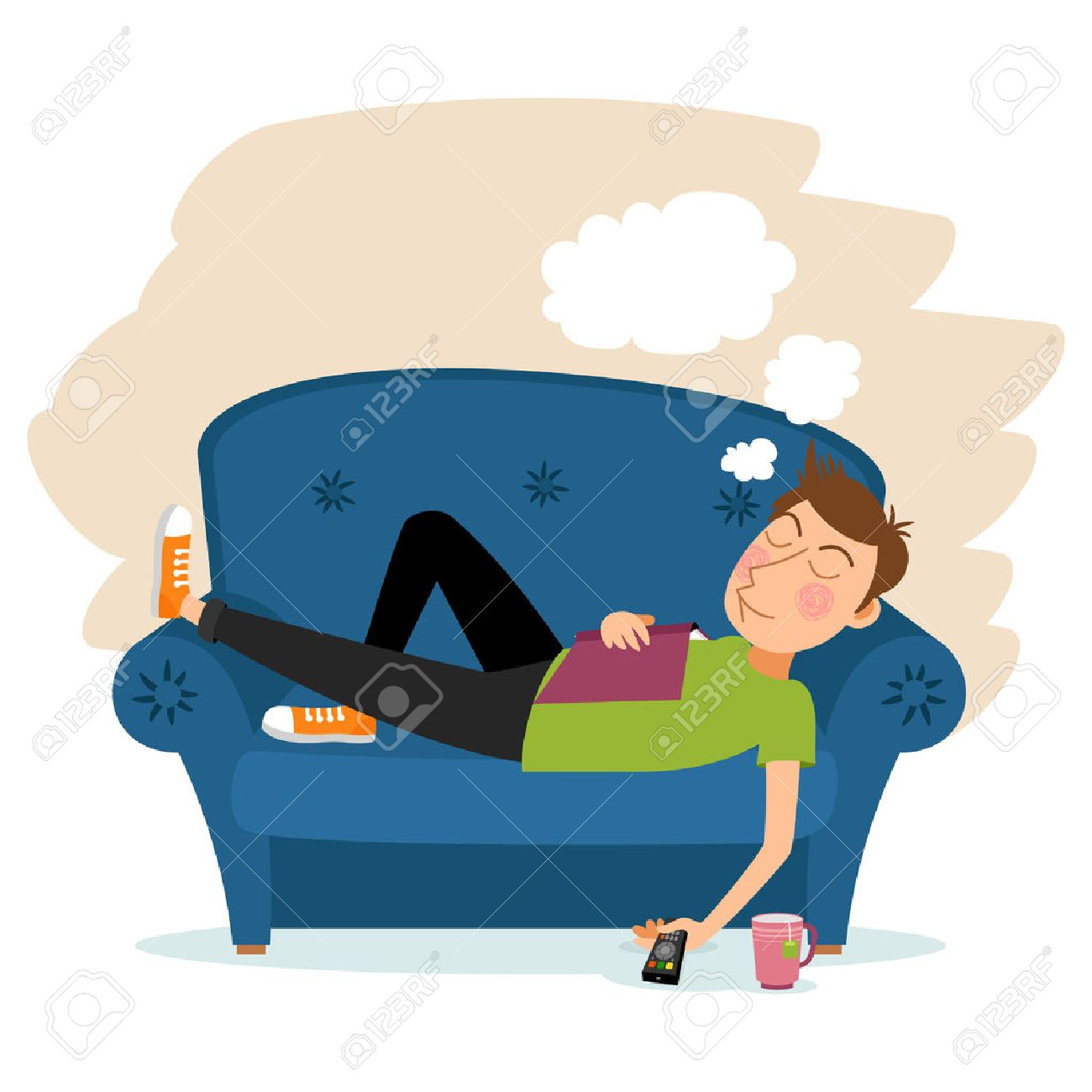 Man sleeping on couch clipart » Clipart Station.