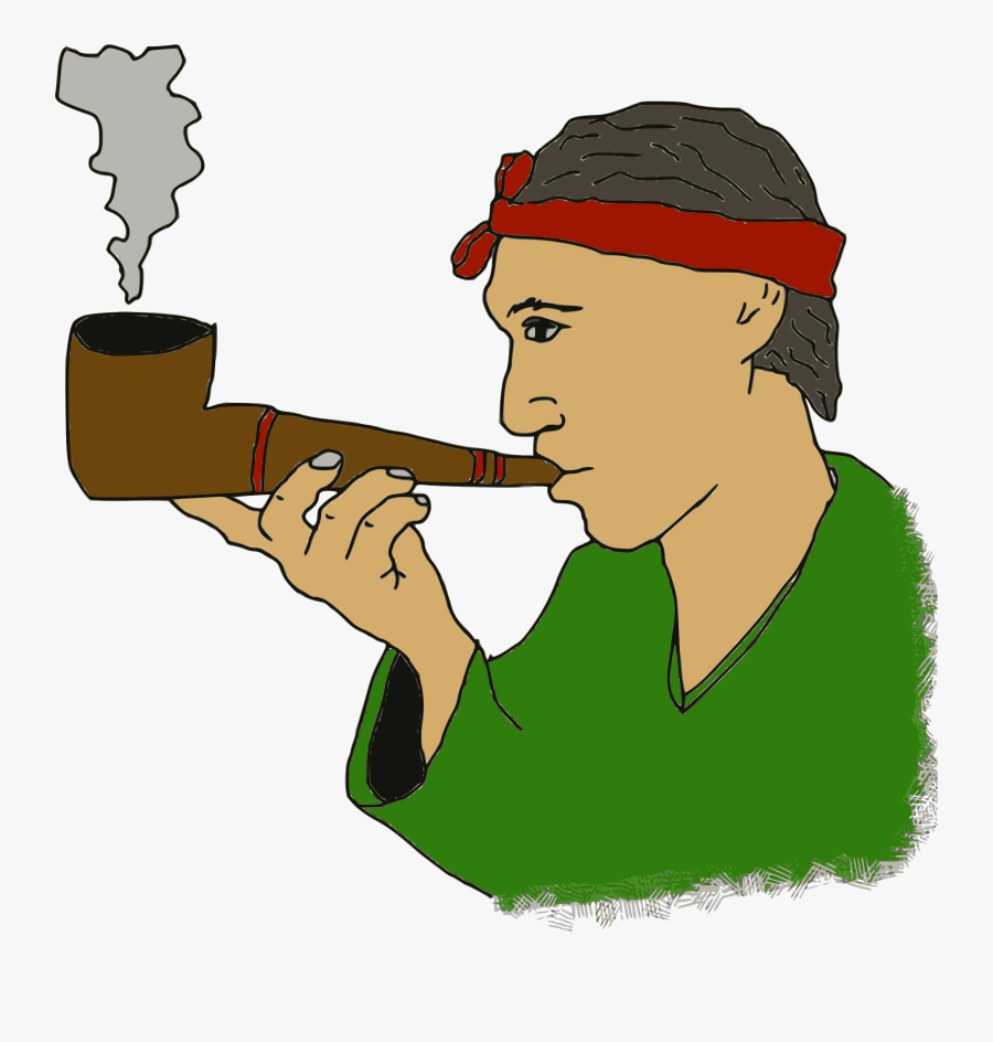 Pipe Smoking Man Old Smoke Png Image.