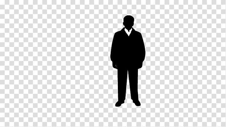 Black and white Brand , Man standing transparent background.