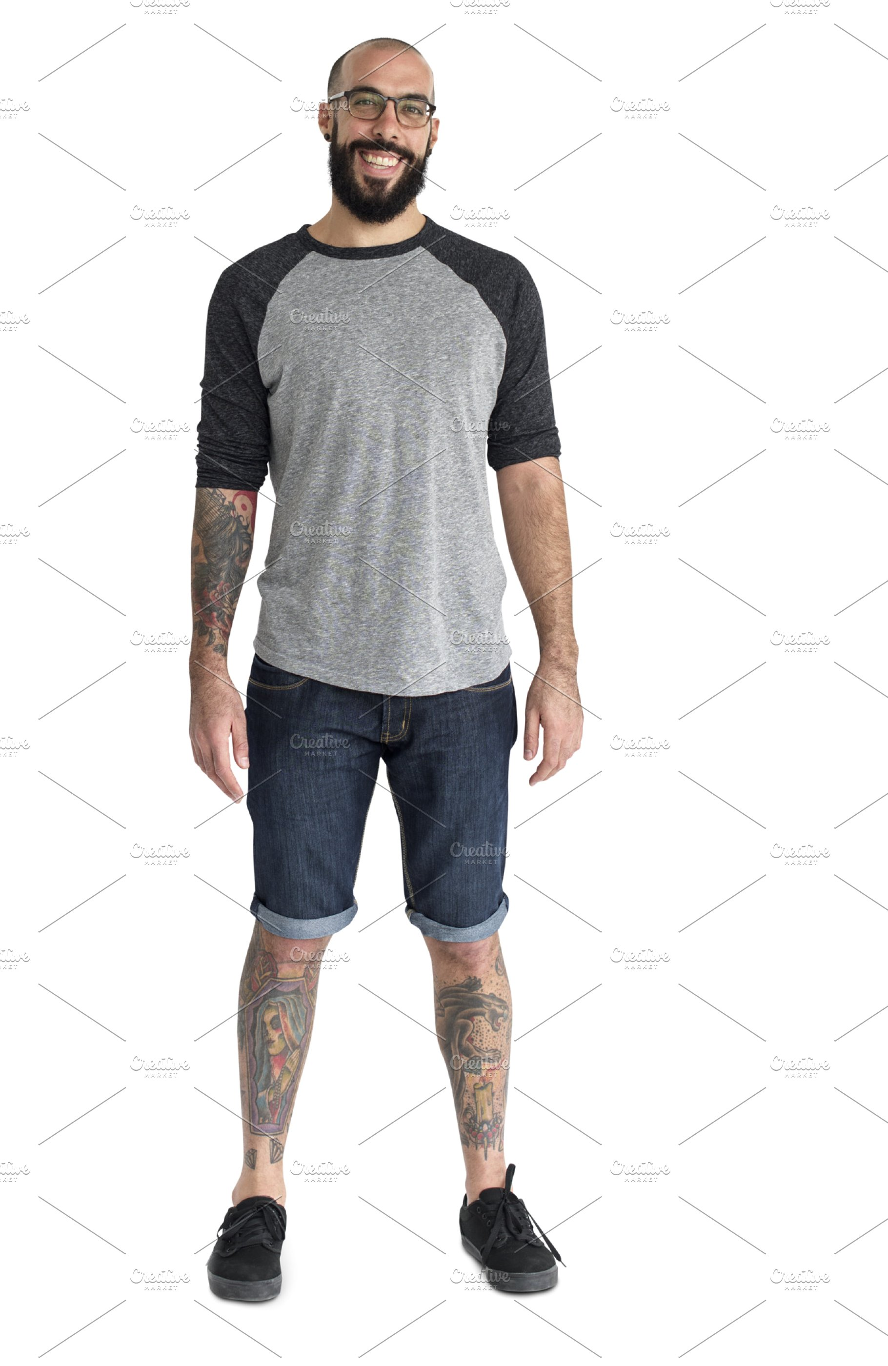 Casual man standing (PNG).
