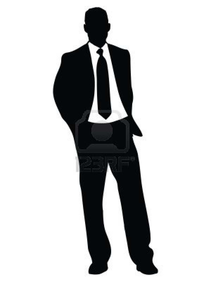 Celebrating Man Silhouette Clip Art.