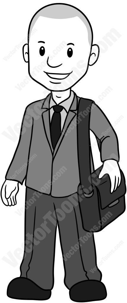 Young Business Man Standing With A Laptop Case On His Left.