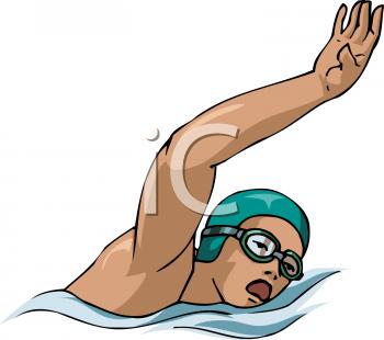 Girl Swimming Clipart.