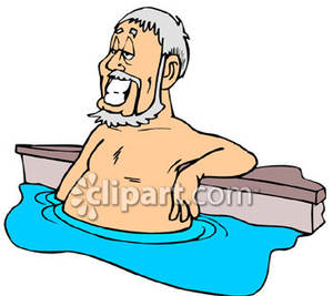 Old Man Swimming Clipart.