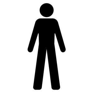 Male Symbol Silhouette clipart, cliparts of Male Symbol.